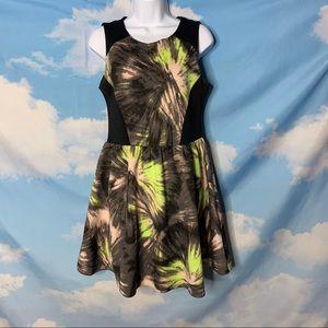 Bar III- Green & Black Sheath Dress size Medium